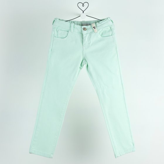 denim largo verde menta